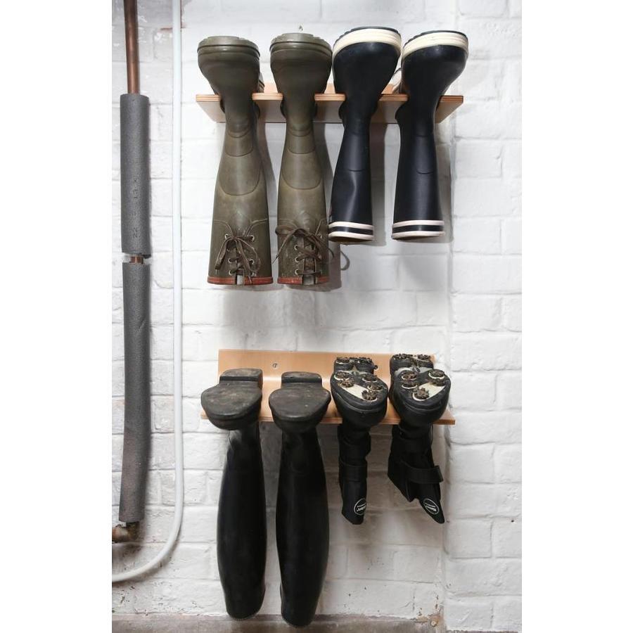 RAKABOOTS Muurlaarzenrek hout voor 2 paar laarzen
