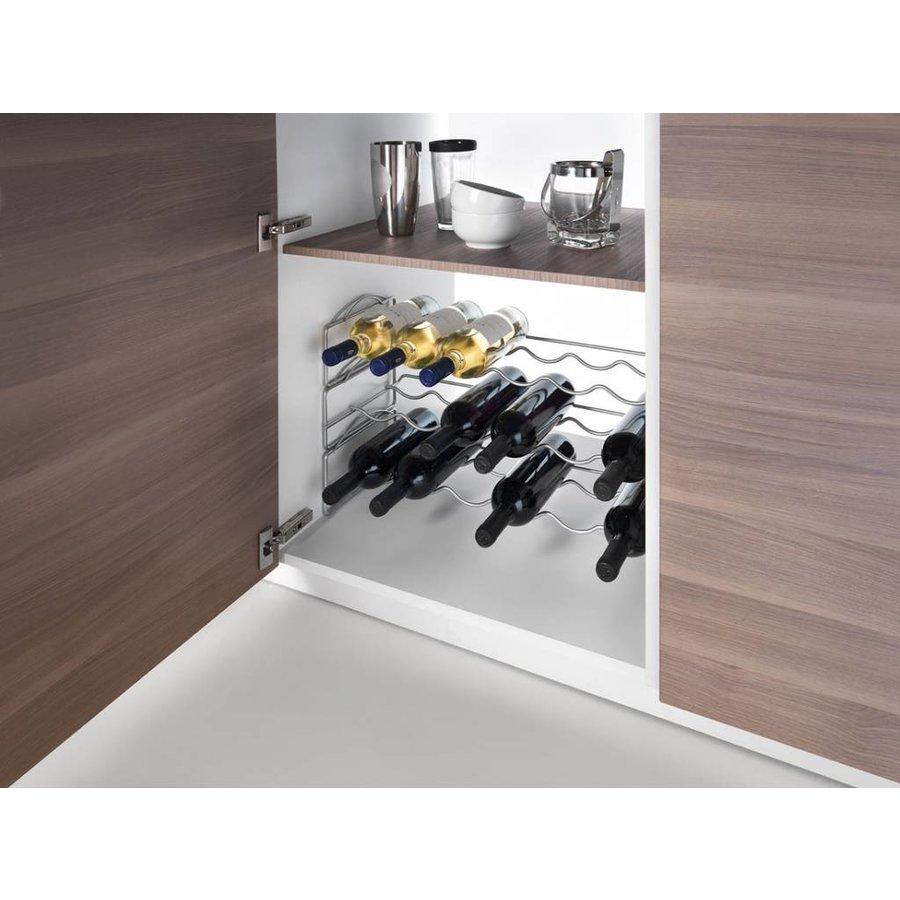 Metaltex | Tomado Wijnrek SOAVE stapelbaar '6 flessen per etage'