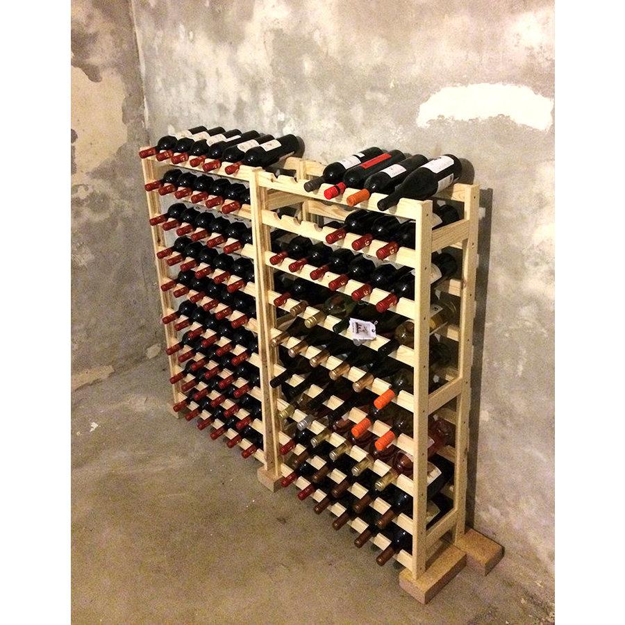 Zeller Present Houten wijnrek voor 54 flessen