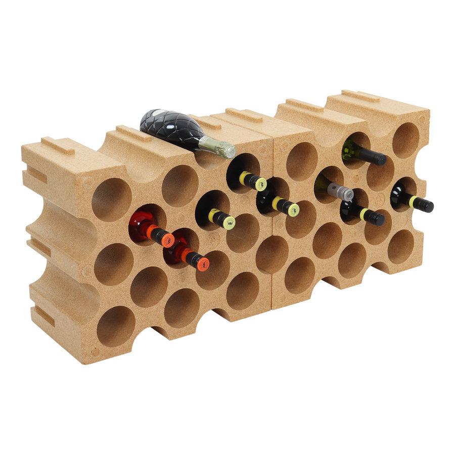 MOTTEZ Wijnrek 15 flessen uitbreidbaar