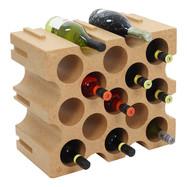 Wijnrek 15 flessen uitbreidbaar