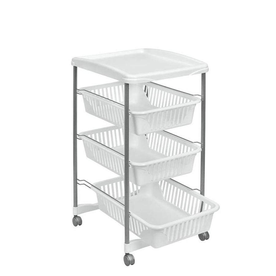 Metaltex | Tomado Keukentrolley VALENCIA met tray en 3 uitneembare manden