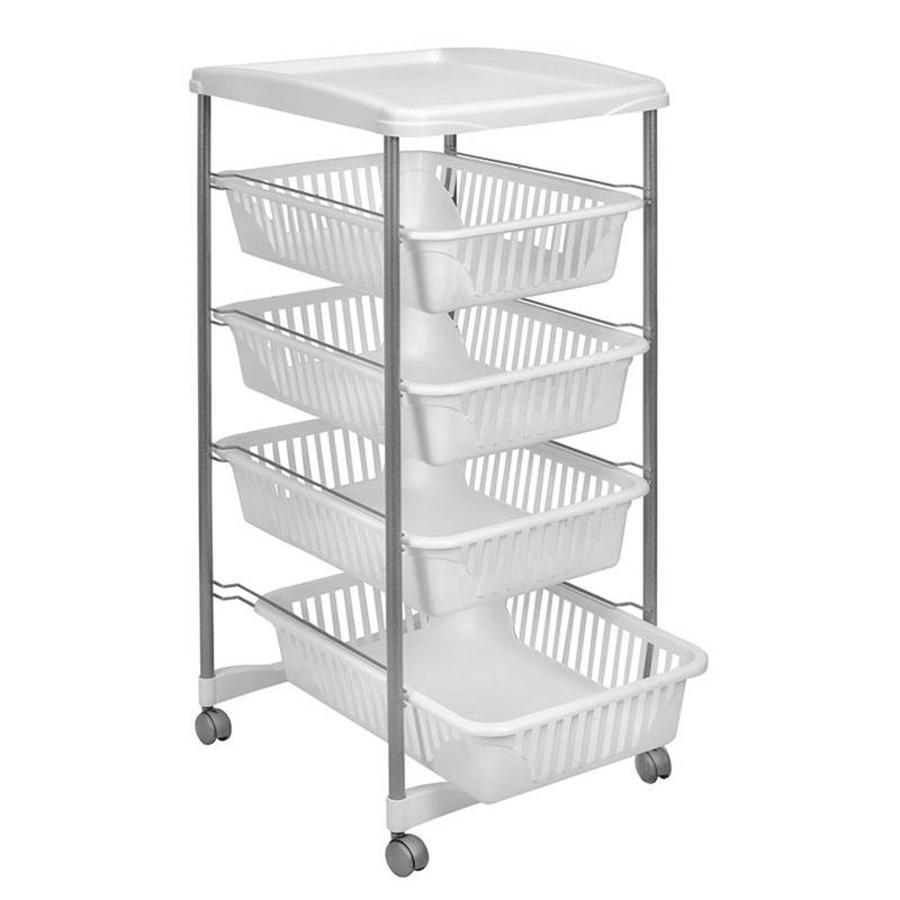 Metaltex | Tomado Keukentrolley ATHENS met tray en 4 uitneembare manden