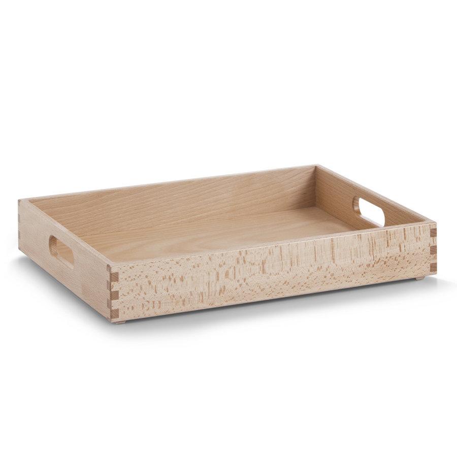 Zeller Present Houten kist van beukenhout 40 x 30 x 7 cm gelakt