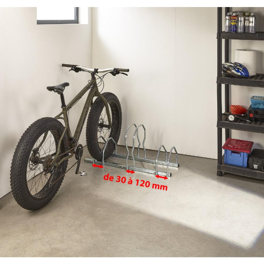 MOTTEZ Fietsenrek 2 niveaus voor 3 fietsen (instelbaar)