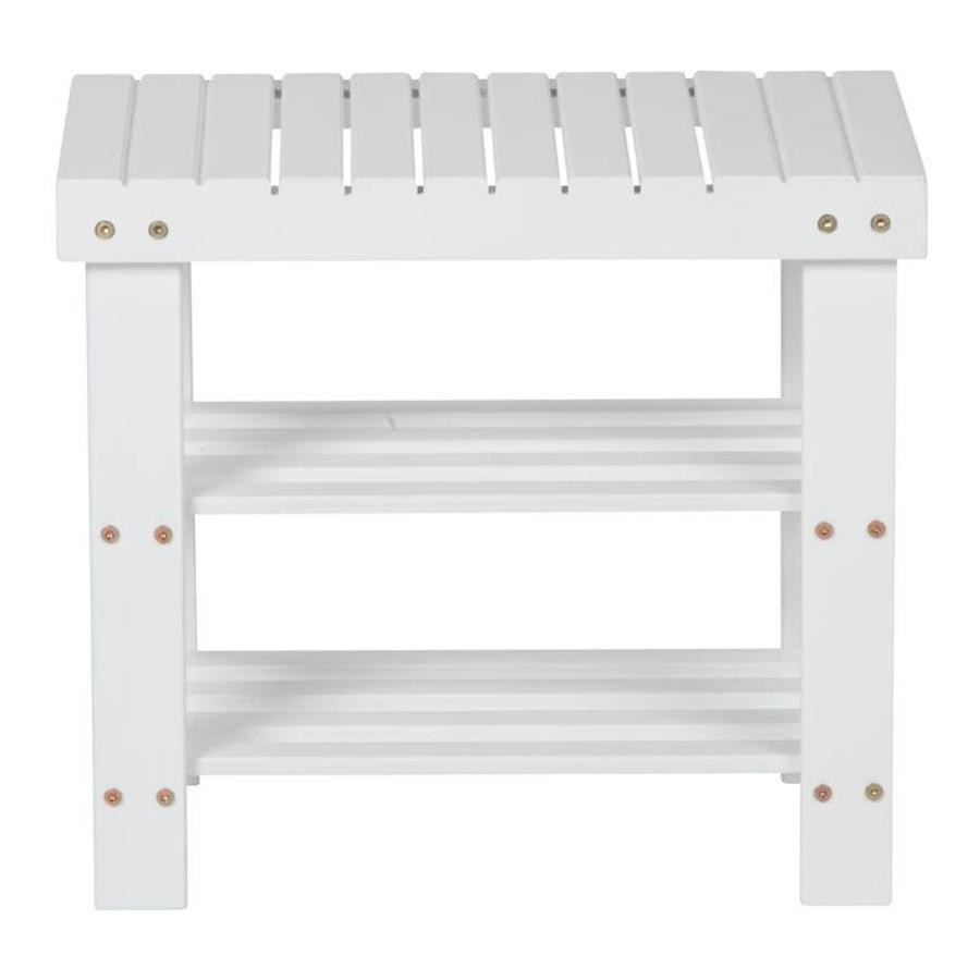CASIBEL Multifunctioneel wit bankje 50 cm