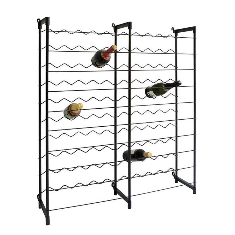 PRACTO Metalen wijnrek voor 100 flessen