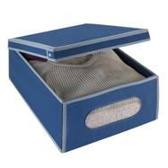 Kledingbox opvouwbaar 33 liter marineblauw