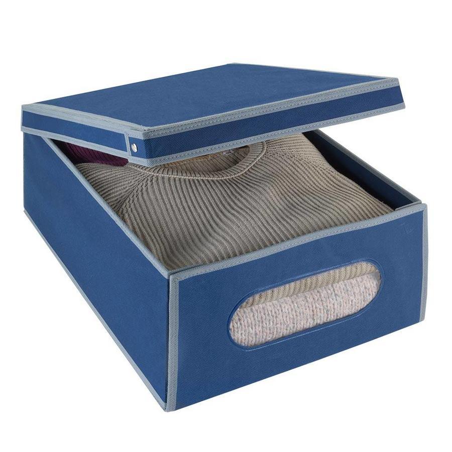Metaltex | Tomado Kledingbox opvouwbaar 33 liter marineblauw