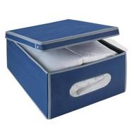 Kledingbox opvouwbaar 50 liter marineblauw