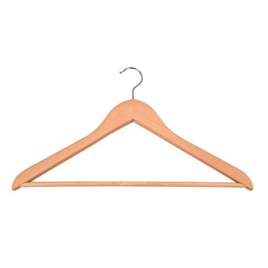 Houten kledinghangers (5 stuks) met broeklat