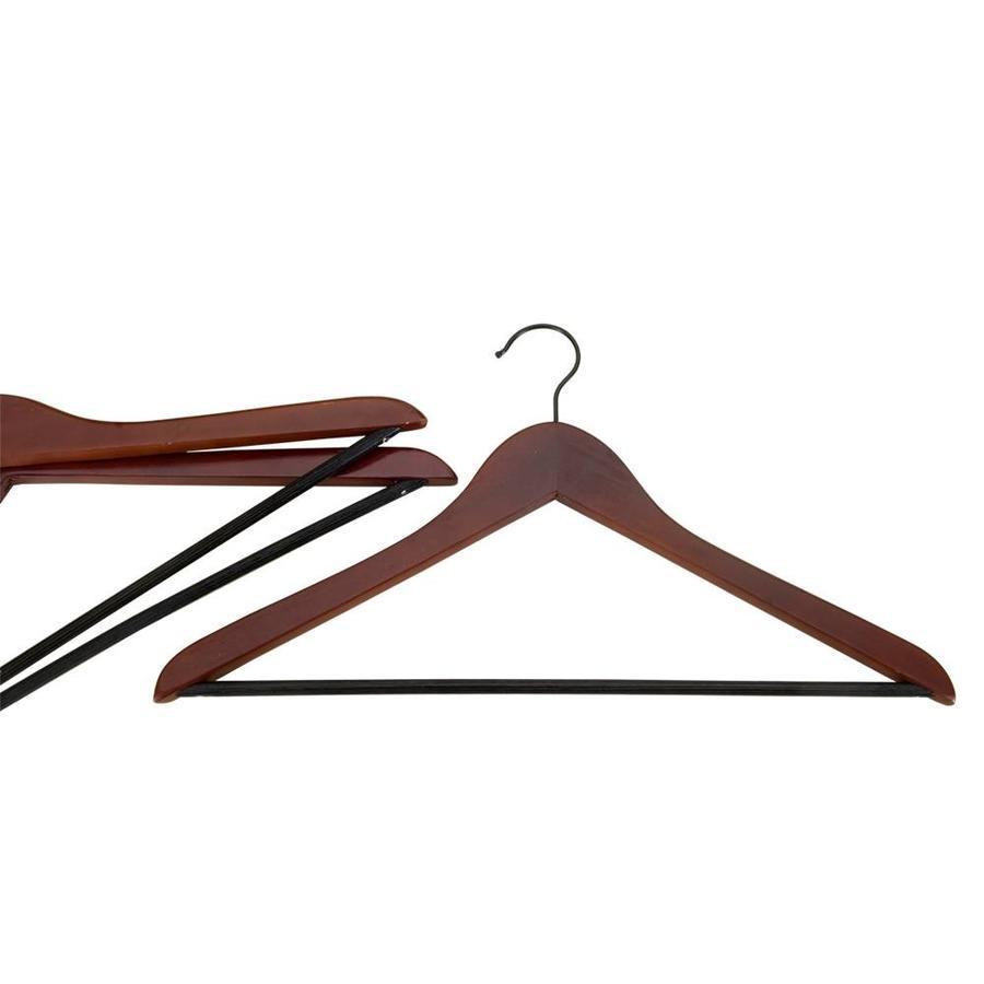 Metaltex   Tomado Houten kledinghangers (3 stuks) met broeklat bruin