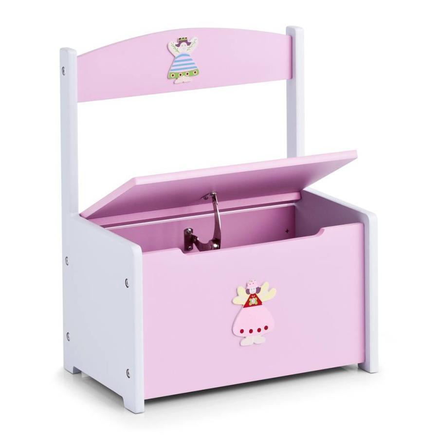 Zeller Present Kinderbankje met opbergruimte 'PRINCESS'