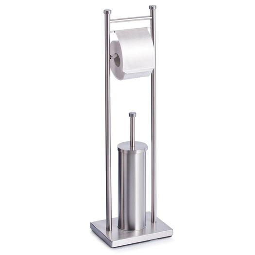 Toiletborstel en toiletrolhouder