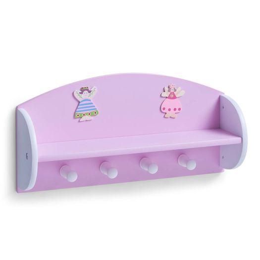 Kinderkapstok met legplank 'PRINCESS'