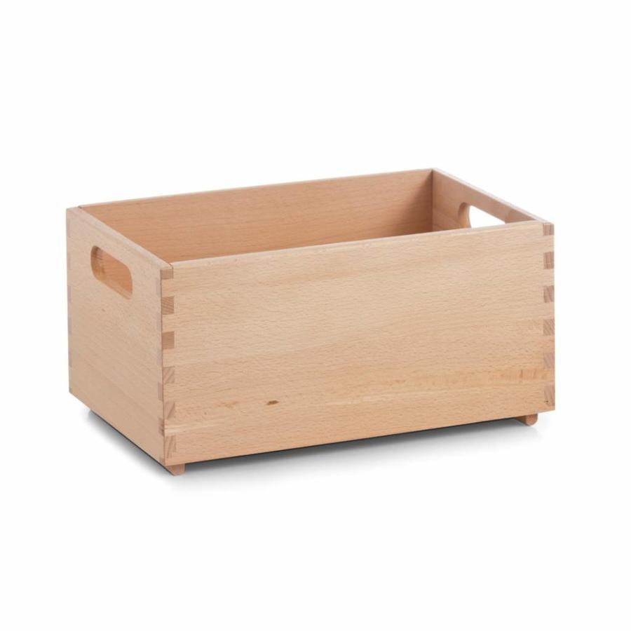 Zeller Present Houten kist van beukenhout 30 x 20 x 15 cm gelakt