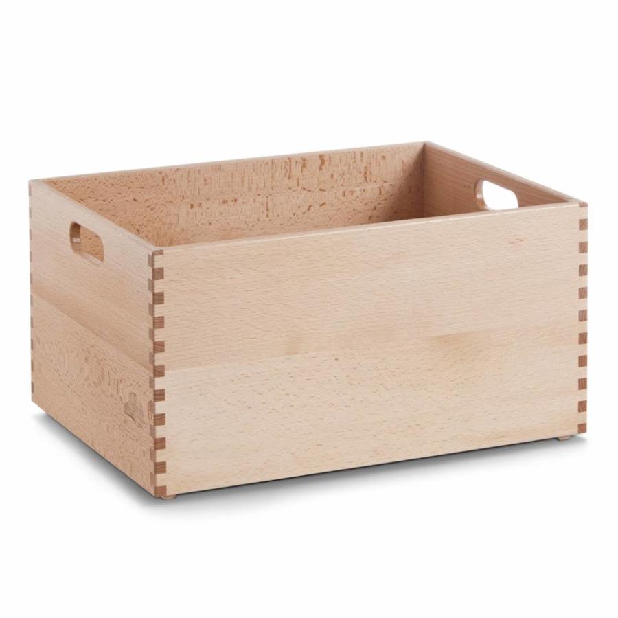 Zeller Present Houten kist van beukenhout 40 x 30 x 21 cm gelakt