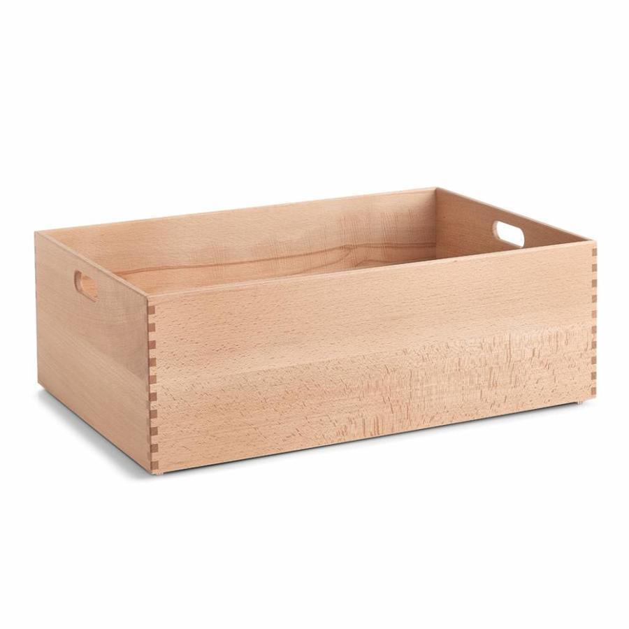 Zeller Present Houten kist van beukenhout 60 x 40 x 21 cm gelakt