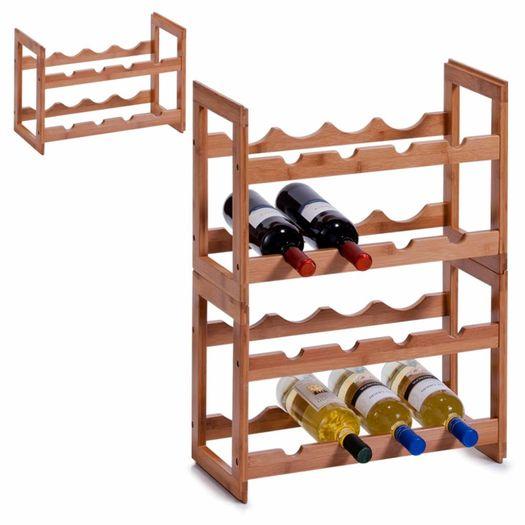 Houten wijnrek voor 8 flessen