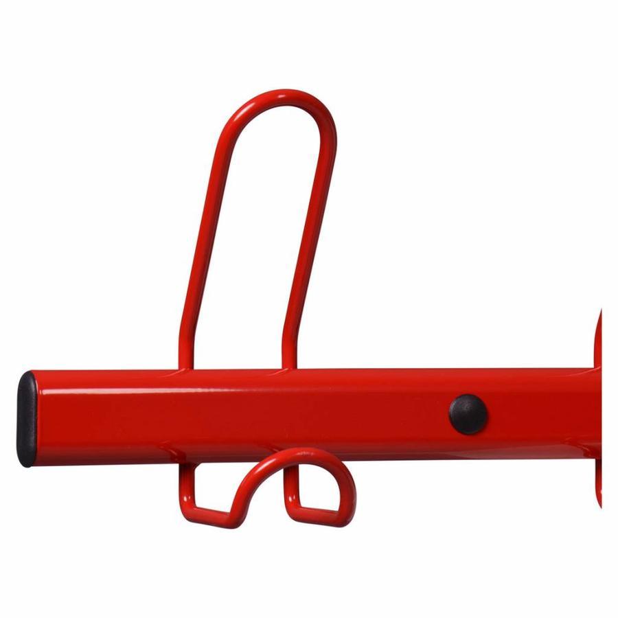 MOTTEZ Wandkapstok met 10 kapstokhaken rood