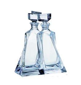 Crystalite Set van 2 whisky of likeur karaffen