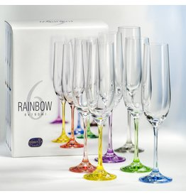 Crystalex Rainbow Champagneglazen 190ml