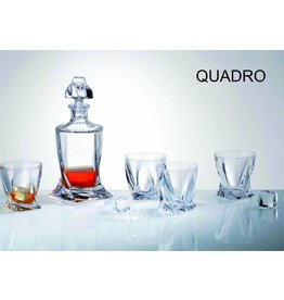 Crystalite Quadro whisky set 7 delig