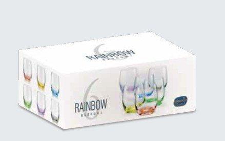 Crystalex Waterglazen Rainbow 300ml