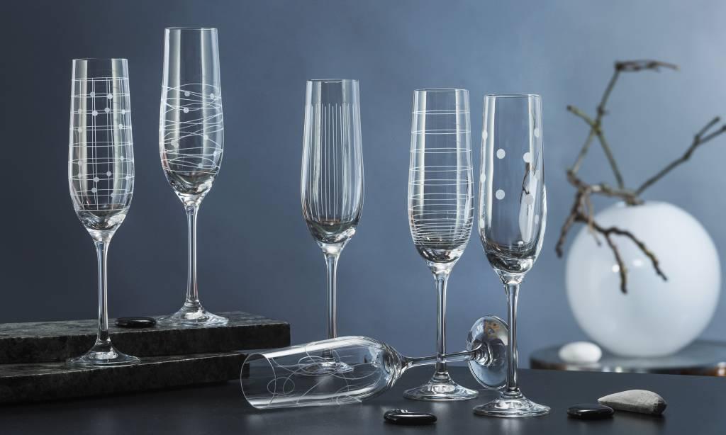 Crystalex Elements champagneglazen 190ml
