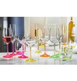 Crystalex Neon wijnglazen 350ml