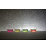 Crystalex Neon waterglazen 300ml