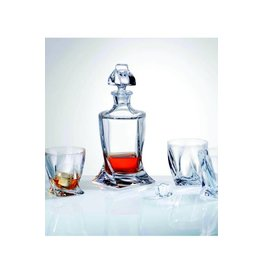 Crystalex whisky set  Quadro 5 delig