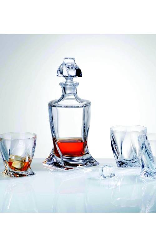 Crystalex Whisky set Quadro 5 delig .