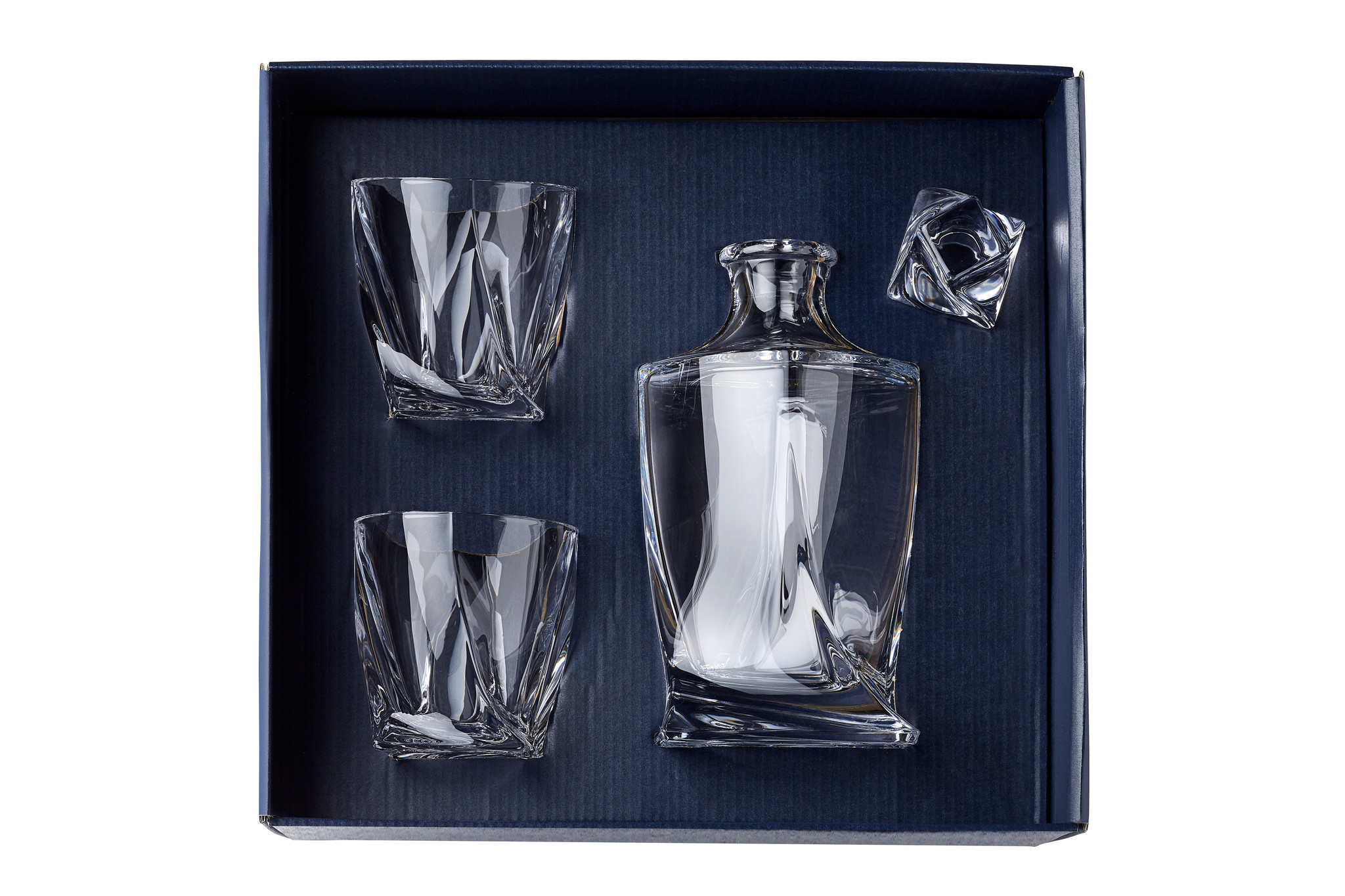 Crystalex Whisky set Quadro 3 delig .