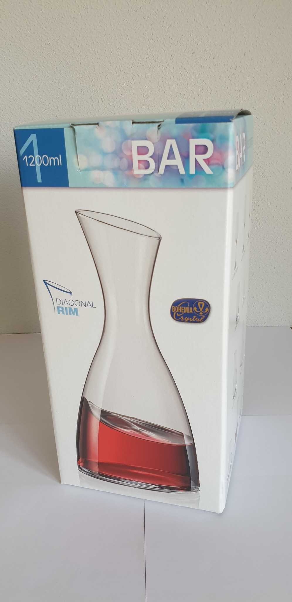 Crystalex Bar wijn of waterkaraf 1200ml  Diagonaal