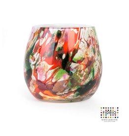 Fidrio Vaas Fiore Mixed colors 22cm hoog