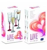 Crystalex Love champagneglazen 190ml
