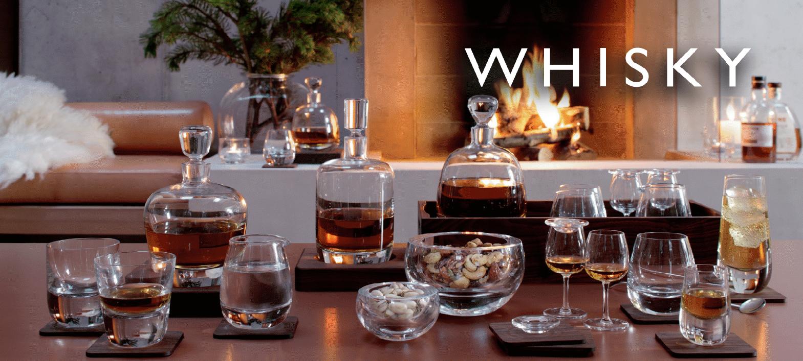 Whisky karaffen en glazen