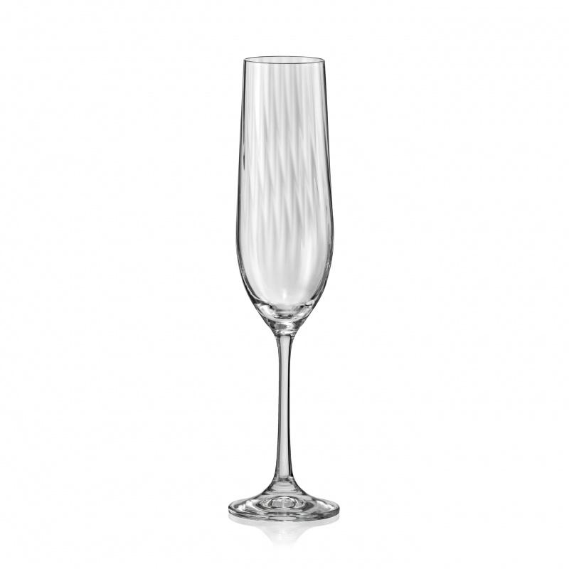 Crystalex Waterfall  6 Kristallen Champagneglazen 190ml