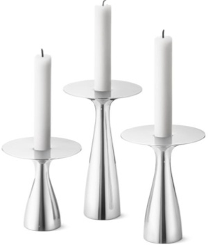 Georg Jensen Alfredo Accessoires Kandelaar Small, Medium, Large Set van 3 Stuks