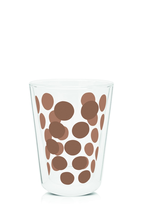 Zak!Designs Dot Dot Dubbelwandig Glas Cappuccino 350 ml