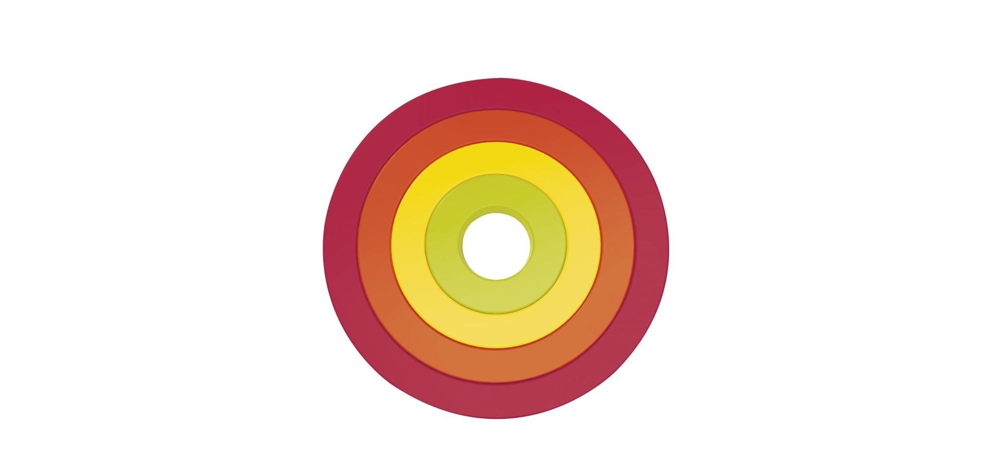 Zak!Designs Onderzetter Circle Set van 4 Stuks