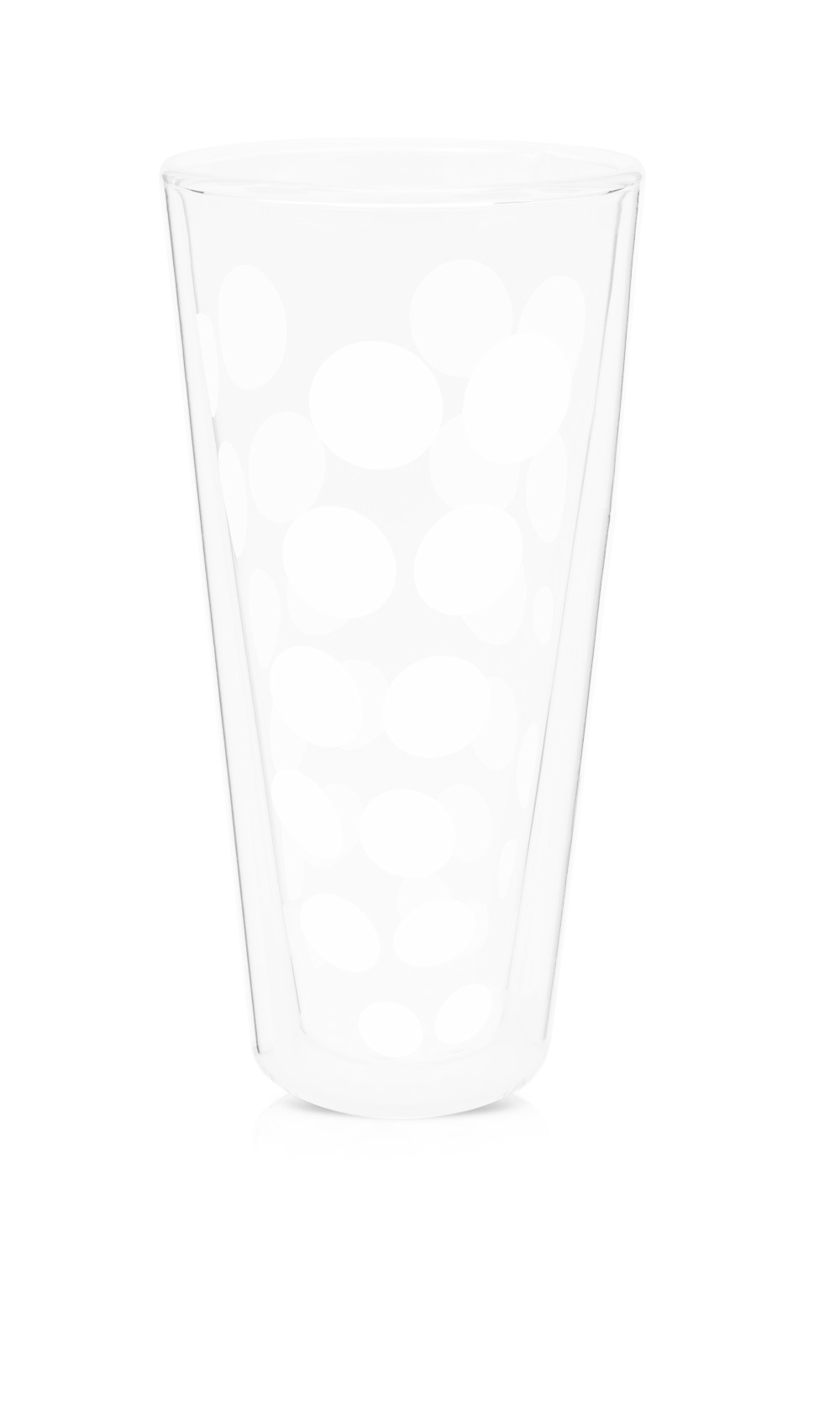 Zak!Designs Dot Dot Dubbelwandig Glas Latte Macchiato 350 ml Set van 4 Stuks