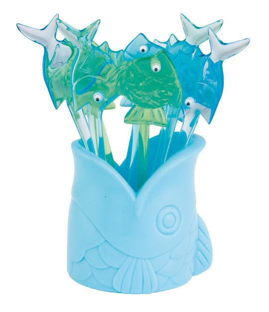 Zak!Designs Party Prikkertjes Vis herbruikbaar Set van 8 Stuks