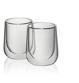 Kela Keuken Fontana Cappuccino Glas Set 180 ml Set van 2 Stuks