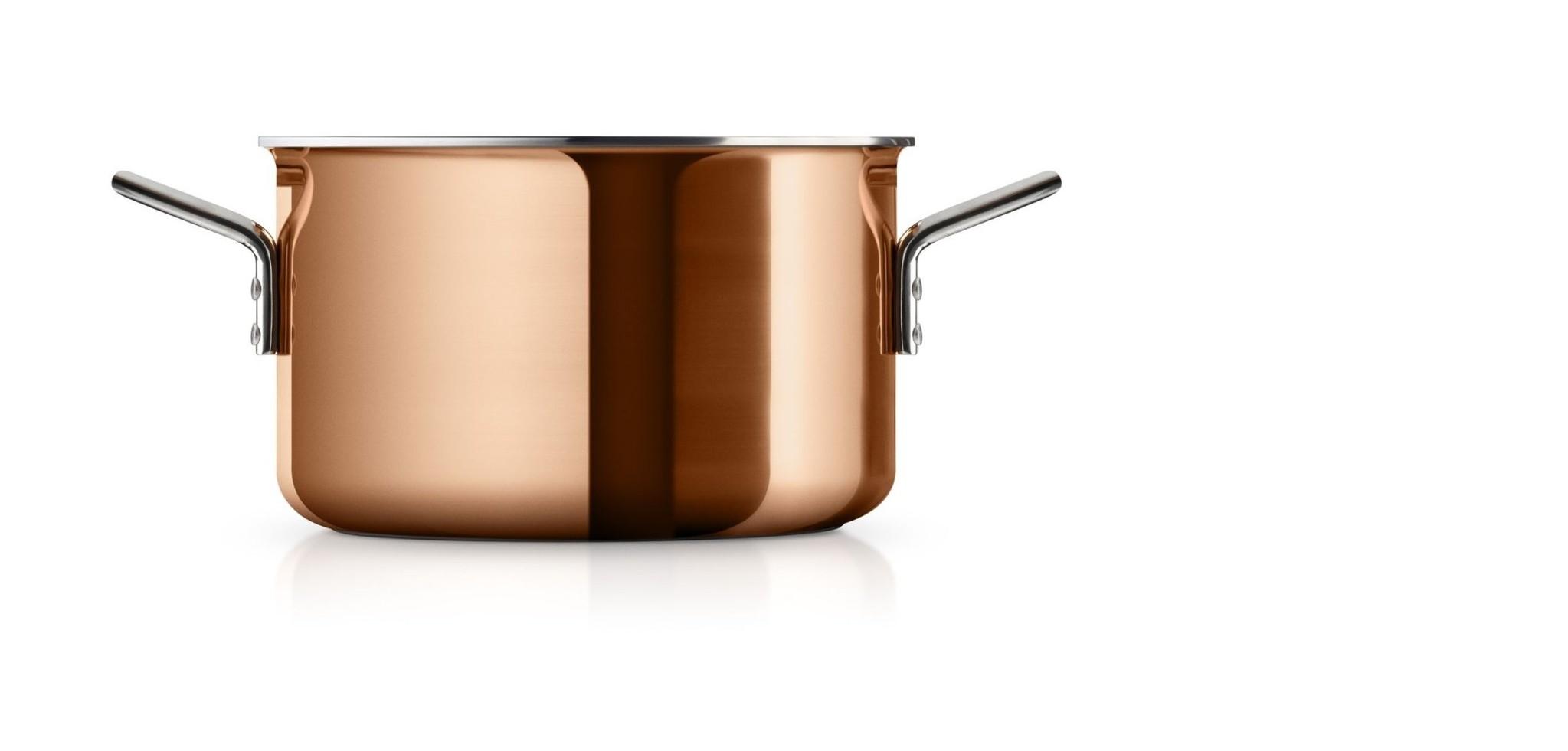 Eva Trio Copper Kookpan Ø 20 cm 3,9 liter