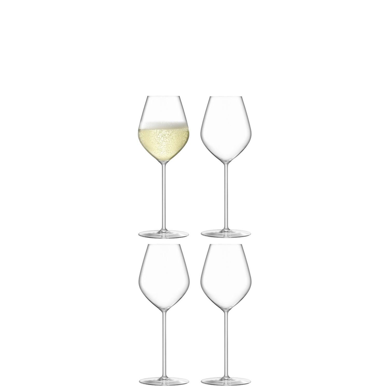 L.S.A. Borough Glas Champagne 265 ml Set van 4 Stuks