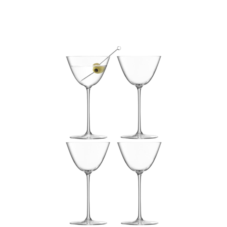 L.S.A. Borough Glas Martini 195 ml Set van 4 Stuks
