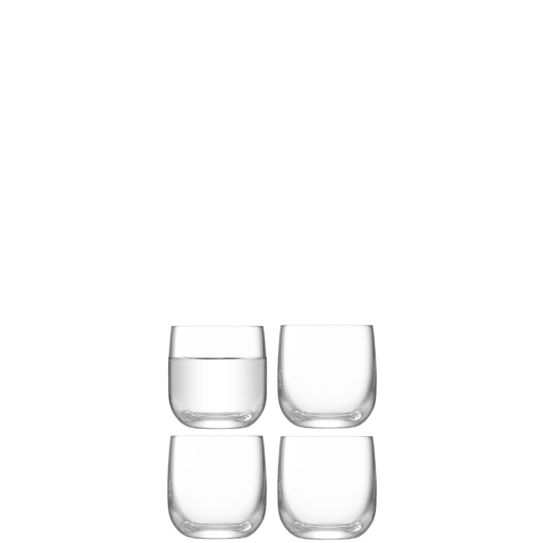 L.S.A. Borough Glas Shotje 75 ml Set van 4 Stuks