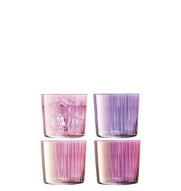 L.S.A. Gems Glas 560 ml Garnet Set van 4 Stuks